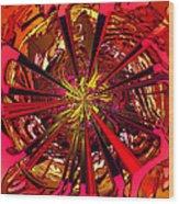 Red Ball 9 Enter The Sun Wood Print