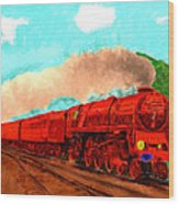 Red Ball Express Wood Print