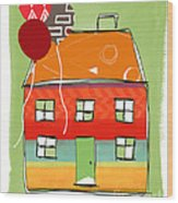 Red Balloon Wood Print
