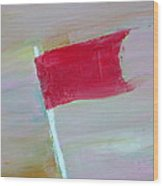Red Banner Wood Print