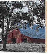 Red Barn 2 Wood Print