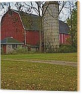 Red Barn And Silo#2 Wood Print