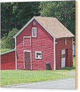 Red Barn Wood Print by Kevin Croitz