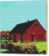 Red Barn   Number 5 Wood Print