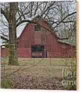 Red Barn Series Picture A Wood Print