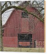 Red Barn Series Picture C Wood Print