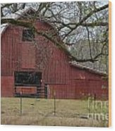 Red Barn Series Picture E Wood Print
