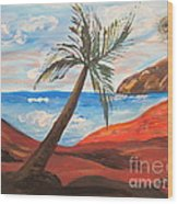 Red Beach Wood Print