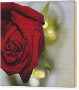 Red Beauty II Wood Print
