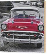 Red Belair At The Beach Standard 11x14 Wood Print