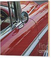 Red Belair Wood Print