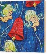 Red Bells Wood Print
