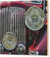 Red Bentley Grill Wood Print
