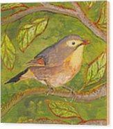 Red-billed Leiothrix Wood Print