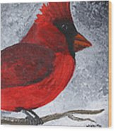 Red Bird Wood Print