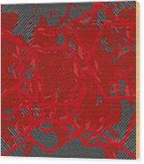Red Black White Expressions Scramble  Black Red Wood Print
