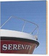 Red Boat Serenity 2 Wood Print