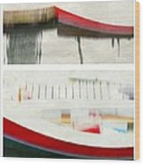 Red Boat At The Dock Wood Print