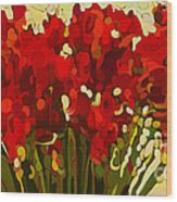 Red Bouquet Wood Print