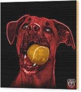 Red Boxer Mix Dog Art - 8173 - Bb Wood Print