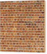 Red Brick Wall Texture Wood Print