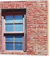 Red Brick Window Wood Print
