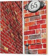 Red Bricks Wood Print