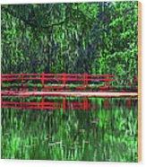 Red Bridge Wood Print