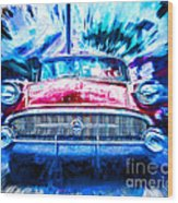Red Buick  Wood Print