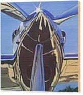 Red Bull P38 Lightning Port Engine Warbird Wood Print