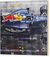 Red Bull Rb6 Vettel 2010 Wood Print by Yuriy  Shevchuk