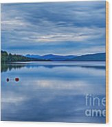 Red Buoys On Loch Rannoch Wood Print
