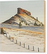 Red Butte Wood Print