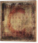 Red C Squares Wood Print