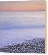 Red Calm At The Beach Wood Print