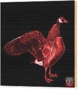 Red Canada Goose Pop Art - 7585 - Bb  Wood Print