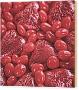 Red Candy Wood Print