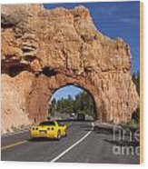 Red Canyon Near Bryce Canyon In Utah Wood Print