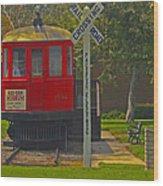 Red Car Museum In Seal Beach Ca Wood Print