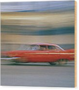 The Red Car Wood Print