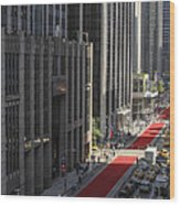 Red Carpet On 6th Ave Wood Print