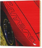 Red Carrera Wood Print by Phil 'motography' Clark
