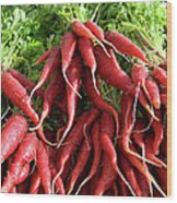 Red Carrots Wood Print by Charlette Miller