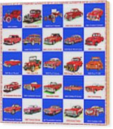 Red Cars Of America Wood Print
