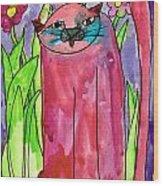 Red Cat Wood Print
