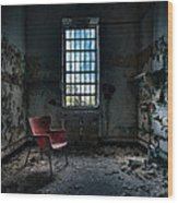 Red Chair - Art Deco Decay - Gary Heller Wood Print