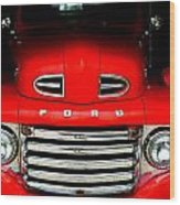Red Cheeks Ford Wood Print