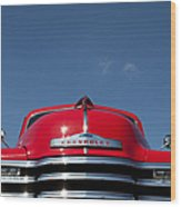 Red Chevrolet 3100 1953 Pickup  Wood Print