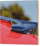 Red Chevy Hood Wood Print