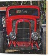Red Classic Hotrod Wood Print